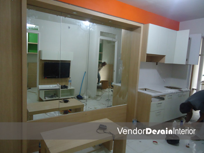 Progress Pengerjaan Design Interior Apartemen Kelapa Gading Jakarta Dapur