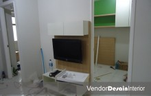 Progress Pengerjaan Design Interior Apartemen Kelapa Gading Jakarta Display TV