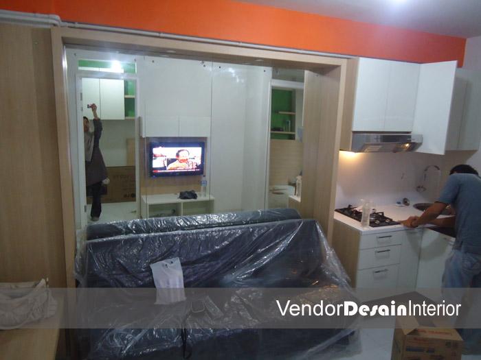 Progress Pengerjaan Design Interior Apartemen Kelapa Gading Jakarta Pengecekan Kelistrikan