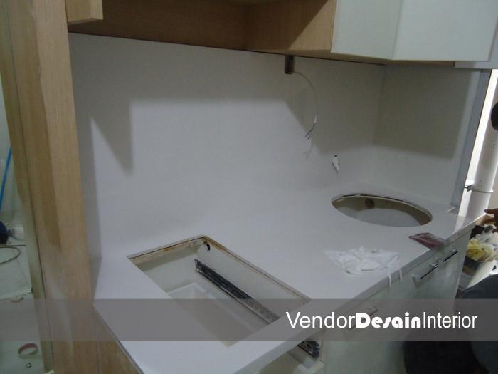 Progress Pengerjaan Design Interior Apartemen Kelapa Gading Jakarta SolidSurface