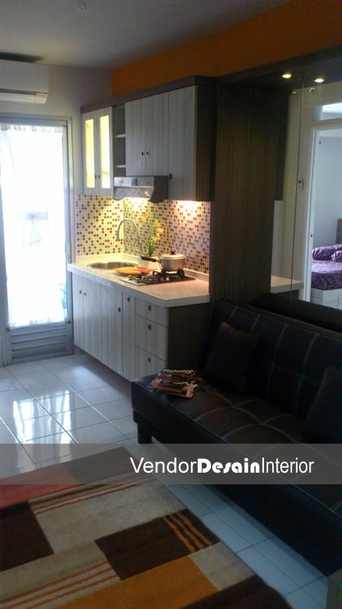 Desain Interior Apartemen  Ruang Tamu dan Kitchen set
