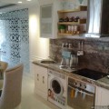 Desain Interior Dapur Kitchen set Apartemen The Mansion Dukuh Golf Kemayoran