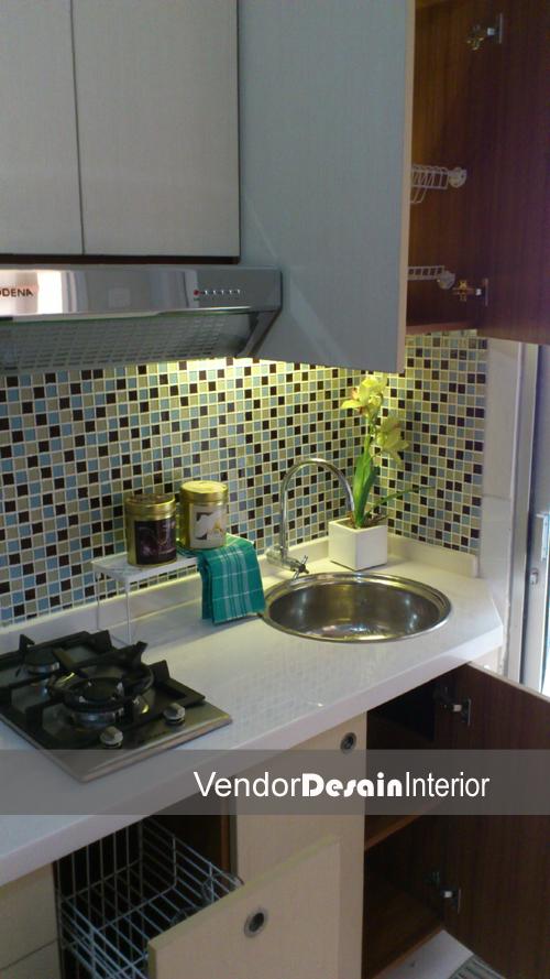 Desain Interior Dapur Kitchen set di Apartemen Kalibata