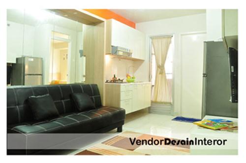 Desain Interior Dapur Kitchen set minimalis dan Ruang Tamu