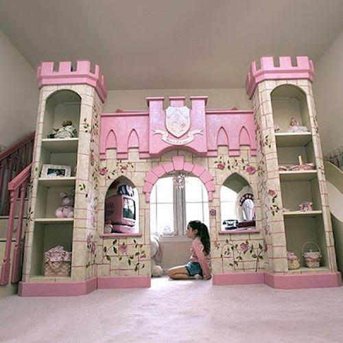 Desain Interior Kamar Tidur Anak tema Princess