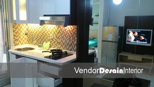 Desain Interior Kitchen set di Apartemen Kalibata