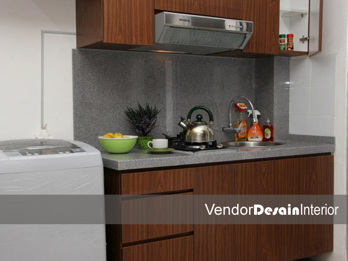 Contoh design interior apartment type studio joy studio for Kitchen set jakarta