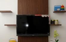 Full Furnish Desain Interior Apartemen Studio Jakarta Diplay TV