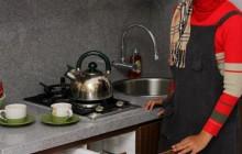 Full Furnish Desain Interior Apartemen Studio Jakarta Kitchen Set