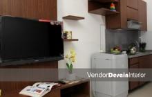 Full Furnish Desain Interior Apartemen Studio Jakarta dapur kitchen set