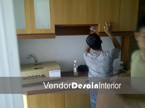 Jasa Desain Interior Apartemen Casa Grande Kuningan Progress Dapur 4