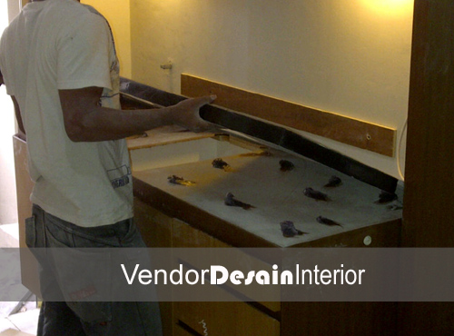 Jasa Desain Interior Apartemen Casa Grande progress dapur