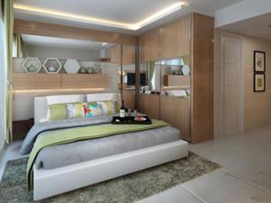 Jasa Desain Interior Jakarta : Kamar Tidur Apartement The Hive Tamansari