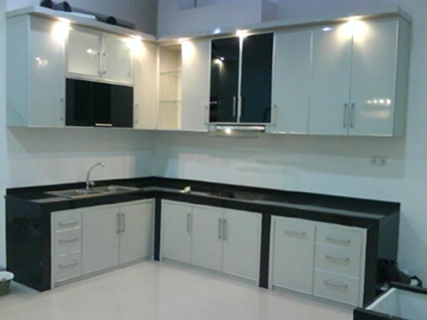Kontraktor Interior Desain Di Apartemen Green Bay Pluit Ancol Kitchen Set  Minimalis