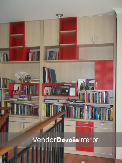 Lemari Buku Set interior Desain Jakarta