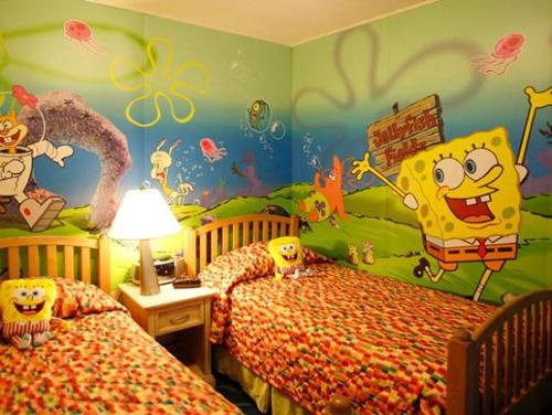 Warna Kamar Anak Kamar Anak tema Kartun