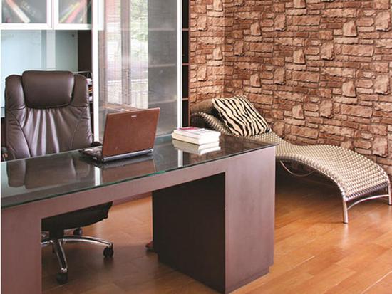 Interior Desain Dinding batu alam ruang kerja di Jakarta