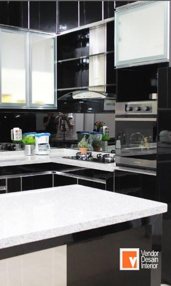 Kitchen Set Hitam Putih Minimalis Bintaro Bsd Jasa Desain Interior