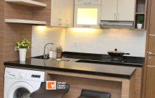 Desain Dapur Minimalis bentuk L Cikarang Jakarta Oasis