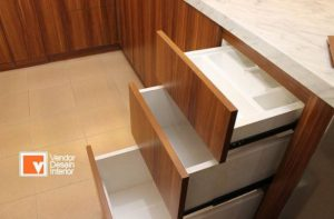 Desain Dapur Minimalis tanpa handel Coklat