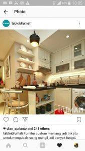 Kitchen Set Cat Duco Putih Kemayoran Jakarta