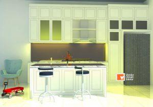 Desain Kitchen Set Bersih Dalam Rumah