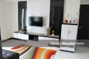 Desain Interior The Wave Apartemen, Ruang Utama Display TV - Copy