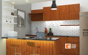 Kitchen Set Coklat Dapur Bekasi Kalimalang