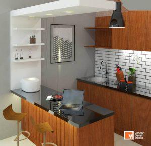 Kitchen Set Minimalis Coklat Bekasi Kalimalang