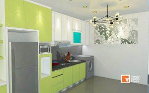 Kitchen Set Hijau Pondok Indah Kebayoran Lama Jakarta