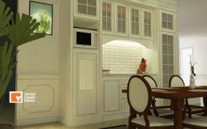 Kontraktor Interior Desain Rumah Mewah Kitchen Set Kalimalang