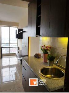 Kitchen Set Interior Desain di Cathleya Pulo Gadung