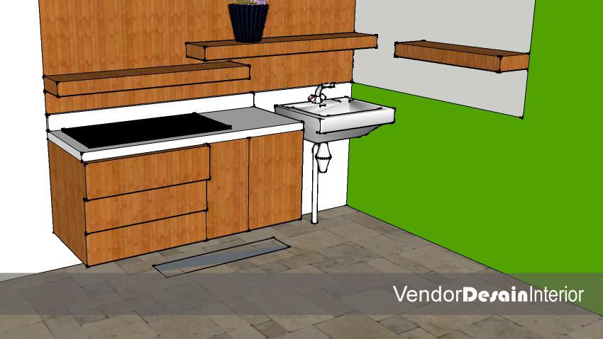 Jasa Desain Interior Dapur Kering Minimalis Buaran Jakarta 4
