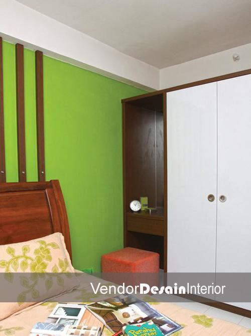 Desain Interior Kamar Tidur Kamar Tidur minimalis Partemen Kalibata