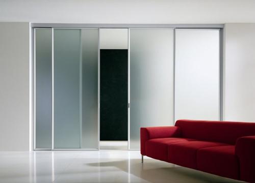 Desain Interior Media kaca pada Pintu Slide