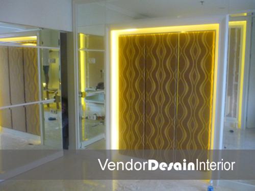 Interior Desain Jakarta Bedset progress gandaria one apartemen