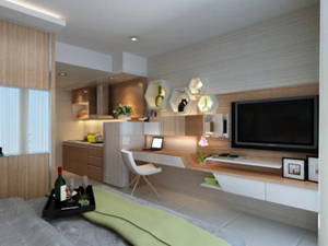 Jasa Desain Interior Jakarta : Kamar Tidur Apartement The Hive Tamansari Cawang