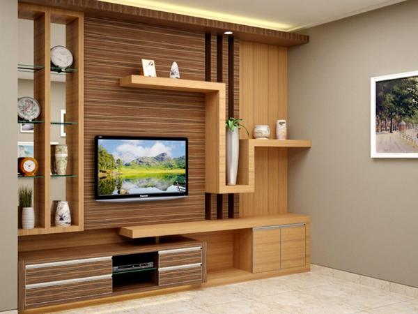 Kontraktor Interior Desain di Apartemen Green Bay Pluit Ancol Display TV dan Ambalan