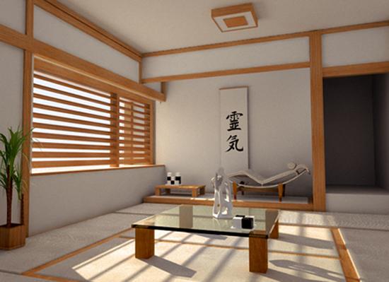 Kontraktor Interior Desain di Perumahan Kembangan Ruang Tamu bergaya Oriental