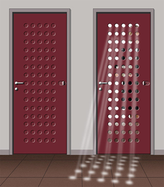 Interior pada pintu minimalis