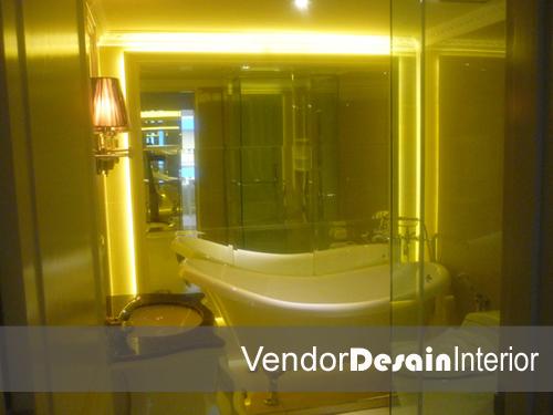 Jasa Interior Desain Jakarta, Memanipulasi Ruangan Bathroom Apartemen Klasik Casa Grande Kuningan