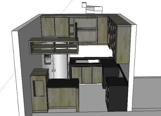 Desain Kitchen Set Minimalis yang akan dikonfirm ke klien