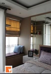 Kamar Utama Interior Desain Apartemen Sudirman Mansion