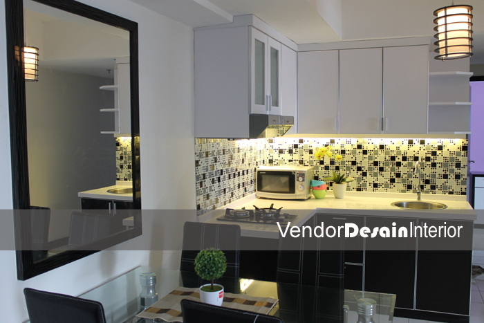 Desain Interior dan Kitchen Set The Wave Apartemen, Ruang Makan Kitchen set