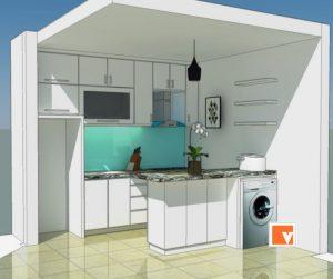 Kitchen Set Apartemen Kelapa Gading Jakarta