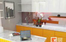 Jasa Pembuatan Kitchen Set Orange di Kebayoran Jakarta
