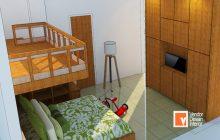 Interior Desain Duren Sawit Tempat Tidur Bertingkat Anak