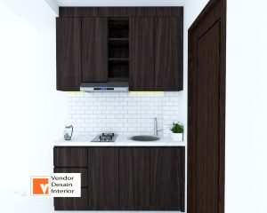 Kitchen Set Interior Desain Apartemen Tifolia Catleya Kelapa gading