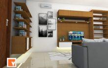 Gambar render Interior Desain BSD Bintaro