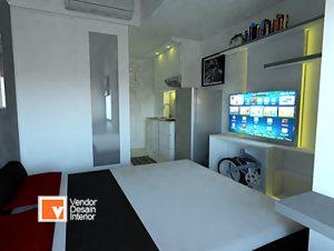 Jasa Interior Desain Apartemen Studio Sunter Kemayoran Jakarta